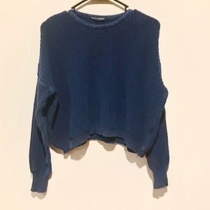 Brandy Melville Cable Knit Sweater Navy blue